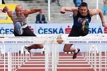 110 m překážek. Vlevo Petr Svoboda, vpravo Sergiy Demidyuk.