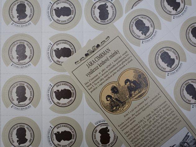 Z oficiálního představení poštovní známky, která poodhalí tajemství možné podoby největšího českého génia Járy Cimrmana.
