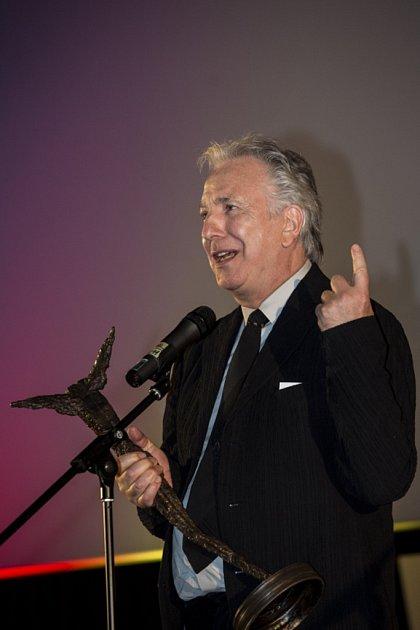 Ze zahájení 22.ročníku Mezinárodního filmového festivalu Praha - Febiofest. Na snímku britský herec a režisér Alan Rickman.