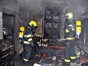 Požár v Praze 4.