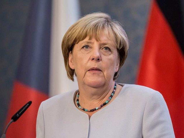 Angela Merkelová v Praze