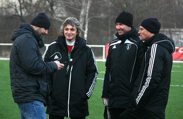 Zleva Tomáš Požár, Jozef Weber, Stanislav Vahala a Dalibor Slezák.