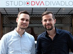 Ladislav Joska a Michal Hrubý – Divadelní kavárna Studia DVA.
