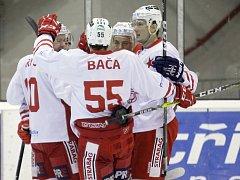 Hokejisté HC Slavia. Ilustrační foto.