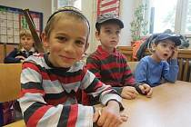Začátek školního roku v pražské Lauderově základní škole v Belgické ulici.