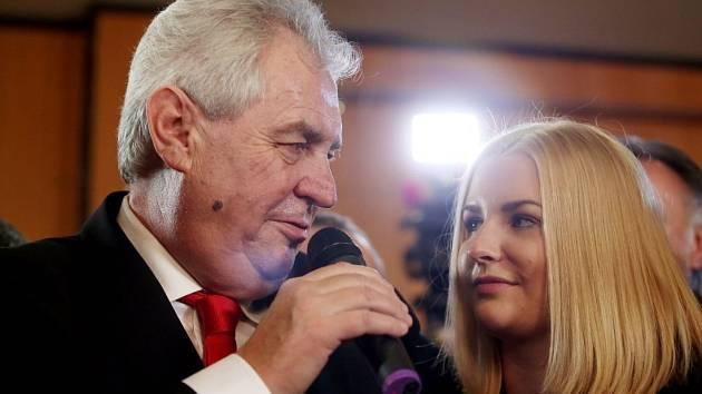 Miloš Zeman v den svého vítězství v prezidentských volbách, Praha, 26. ledna 2013