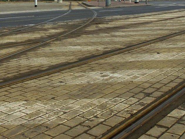 Tramvajové koleje. Ilustrační foto.