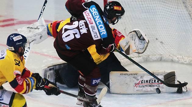 Dohrávka 11. kola Extraligy ledního hokeje: Sparta Praha - České Budějovice 2:1.