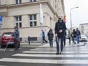 Ukázka navigačnío systému pro nevidomé, Praha, 18.4.2017