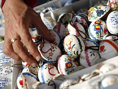 Velikonoční trhy 10. dubna na Staroměstském náměstí v Praze.