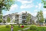 Jak bude vypadat nová rezidenční čtvrť Tesla Hloubětín v Praze.