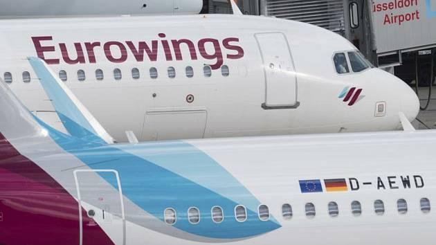 Letadla společnosti Eurowings.