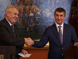 Miloš Zeman a Adrej Babiš.