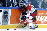 Hokejové utkání mistrovství světa mezi Českou republikou a Kanadou v pražské O2 Areně