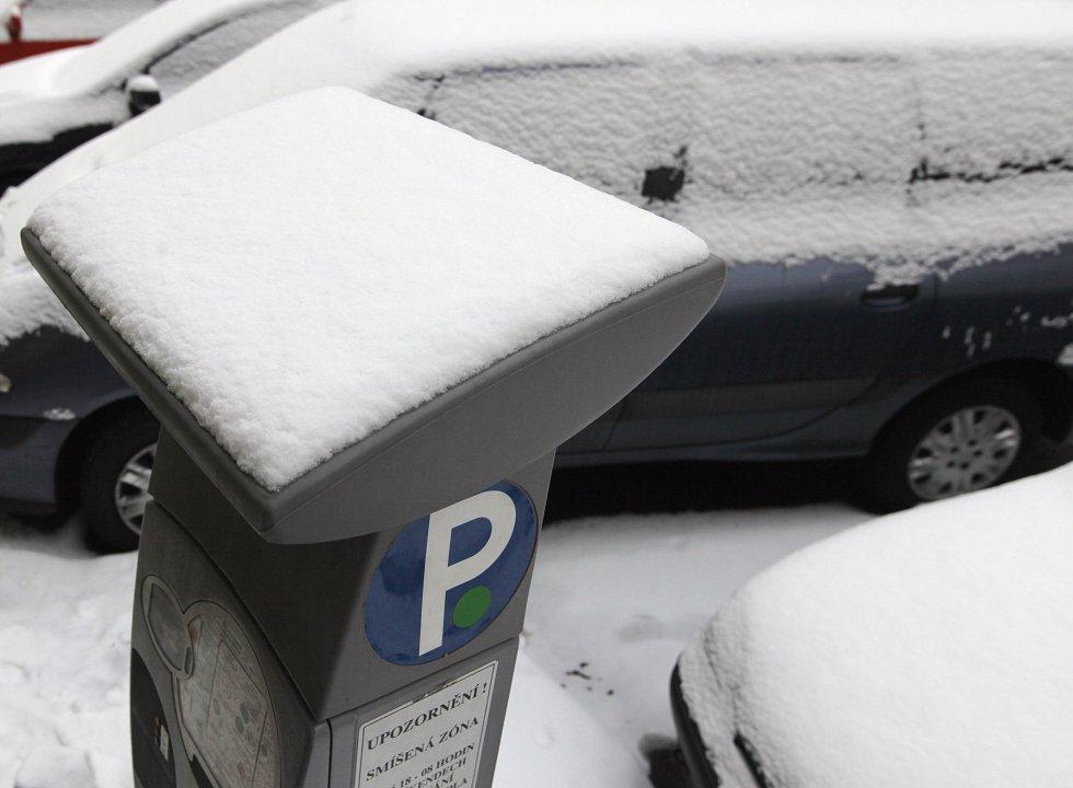 Sníh v Praze.