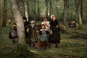 Děti v lese - Václav Brožík.