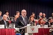 Sněm Hospodářské komory ČR probíhal 16. května v Praze. Bohuslav Sobotka