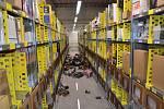 Požár v distribučním centru