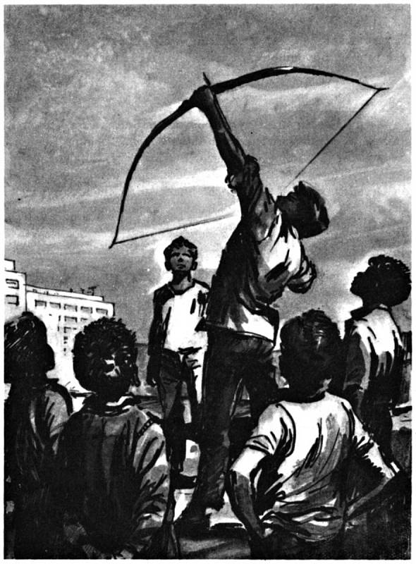 Krumova ilustrace knihy Jaroslava Foglara Pod junáckou vlajkou.