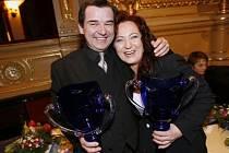 Herci Erik Pardus a Simona Stašová obdrželi Thálii za nejlepší herecký výkon v kategorii činohra.