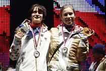 Setkání úspěšných českých sportovců v Olympijském parku Soči na pražské Letné - Martina Sáblíková, Eva Samková.