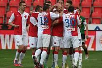 Fotbalisté Slavie měli v minulém zápase hodně důvodů k radosti, když rozstříleli Jablonec 5:1. Uspějí i dnes v Plzni?