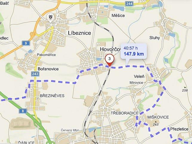 Severní pól Prahy leží na jihovýchodním okraji obce Hovorčovice.