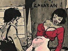 Erotická kresba Káji Saudka.