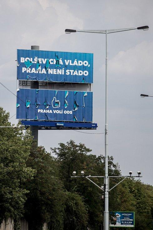Volební billboard pro komunální volby 18. července v Praze. ODS