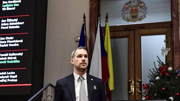Pražský primátor Zdeněk Hřib (Piráti) na jednání zastupitelstva hlavního města 12. prosince 2019 v Praze.