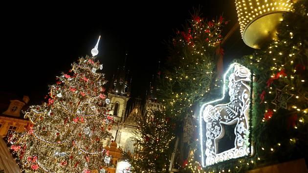 Rozsvícení vánočního stromu na Staroměstském náměstí