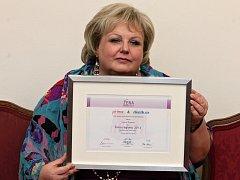 Lenka Šťastná, vítězka pátého ročníku Žena regionu.