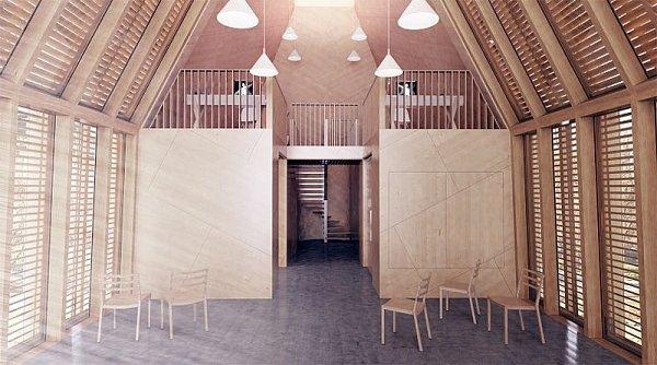 Návrh Jakuba Hoffmanna na interiér Muzea finské architektury.