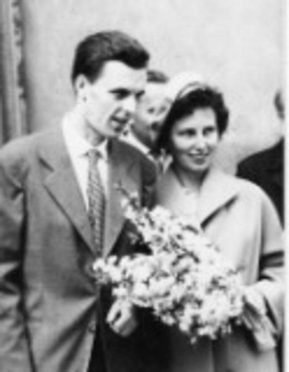 Svatba s Františkou Patočkovou v roce 1961.