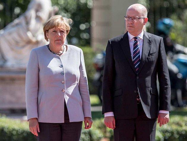 Návštěva německé kancléřky Angely Merkelové v Praze.