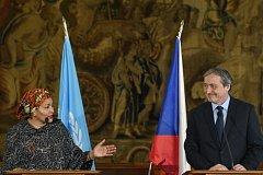 Ministr zahraničních věcí Martin Stropnický a zástupkyně generálního tajemníka OSN Amina Mohammedová