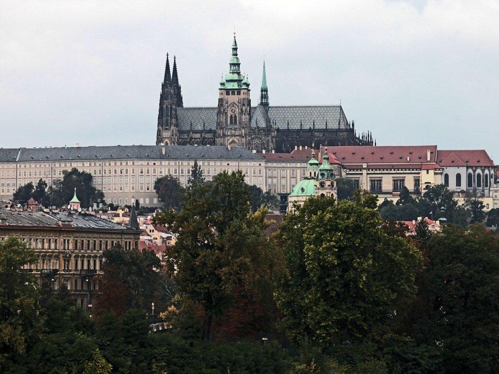 Pražský hrad, sídlo prezidenta republiky.