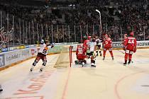 29. kolo hokejové extraligy 22.prosince.2019 - HC Sparta Praha - Oceláři Třinec 3:-2.