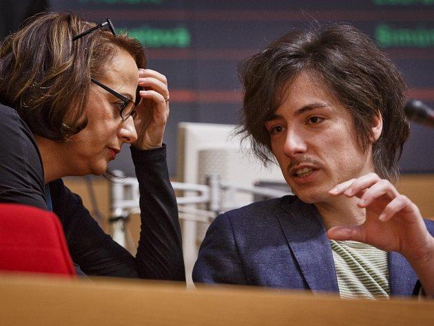 Pražská primátorka Adriana Krnáčová se svým náměstkem Matějem Stropnickým.