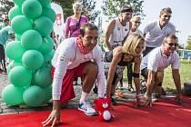 Slavnostní zakončení TERIBEAR HÝBE PRAHOU pořádáné Nadací Terezy Maxové proběhlo za účasti Terezy Maxové, Radka Štěpánka a Bohdana Wojnara ze Škody Auto 12. září v Praze.