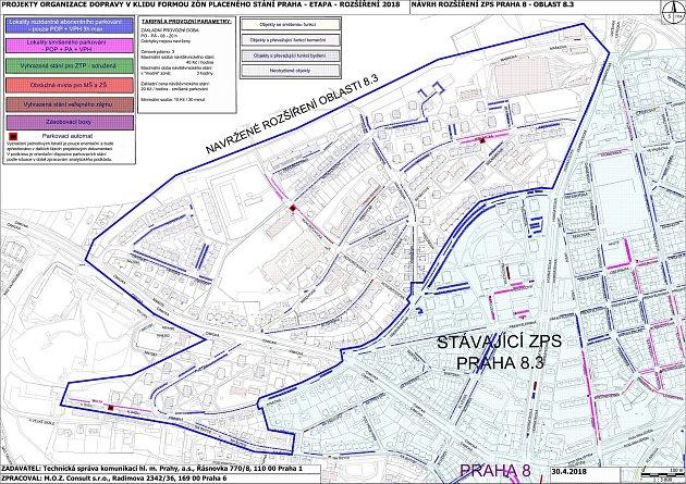 Rozšíření zón placeného parkování vKobylisích.