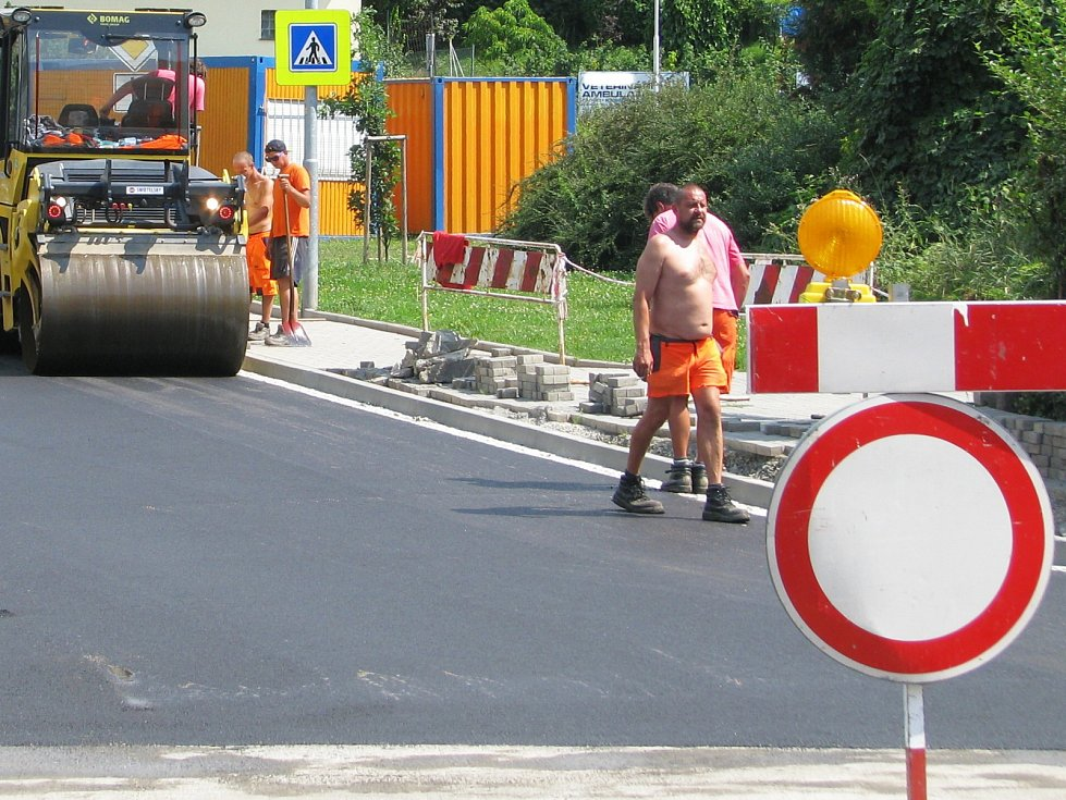 Rekonstrukce ulice. Ilustrační foto.
