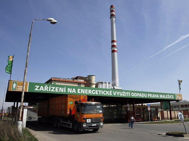 Spalovna odpadu v pražských Malešicích.