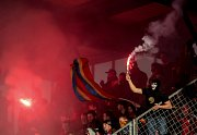 Zápas 25. kola 1. ePojišťovna fotbalové ligy mezi AC Sparta Praha a FC Viktoria Plzeň, hrané 23. dubna v Praze. fanoušci Sparty