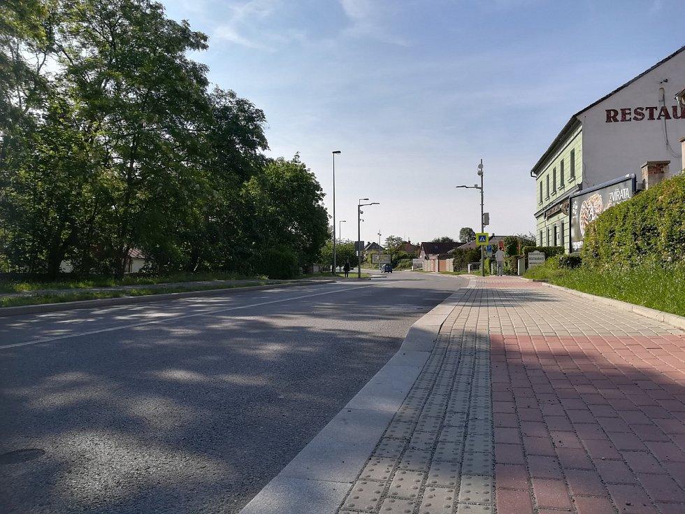 Vídeňská ulice směr z centra.