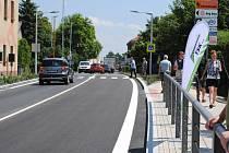 Českobrodská ulice v Běchovicích po rekonstrukci.