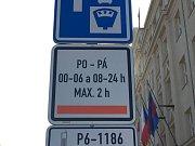 Oranžová zóna na Praze 6.
