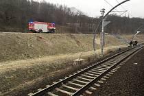 Vlak srazil nedaleko tunelů pod Vítkovem člověka.