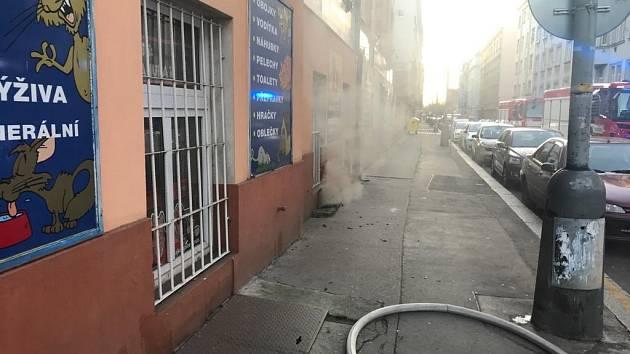 Požár ve sklepě činžovního domu v ulici Novákových.