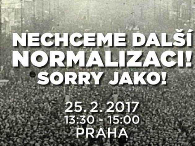 Pozvánka na demonstraci za svobodu médií.